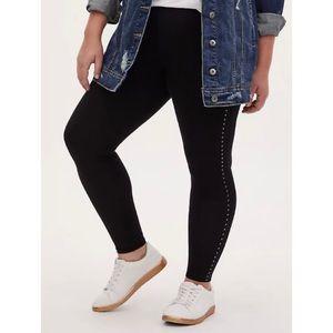 🆕 Stripe Stud Black Premium Legging Torrid 1X 14